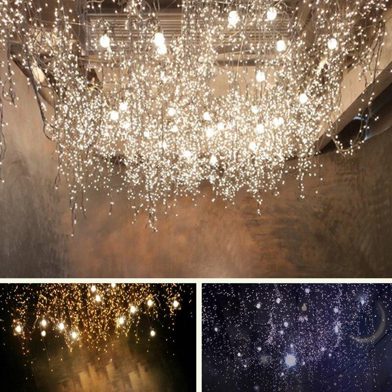 4M 96 SMD Ice Bar LED String Wave Shape Curtain Lights Lamp Holiday Xmas Wedding Decor With End Plug 110-220V