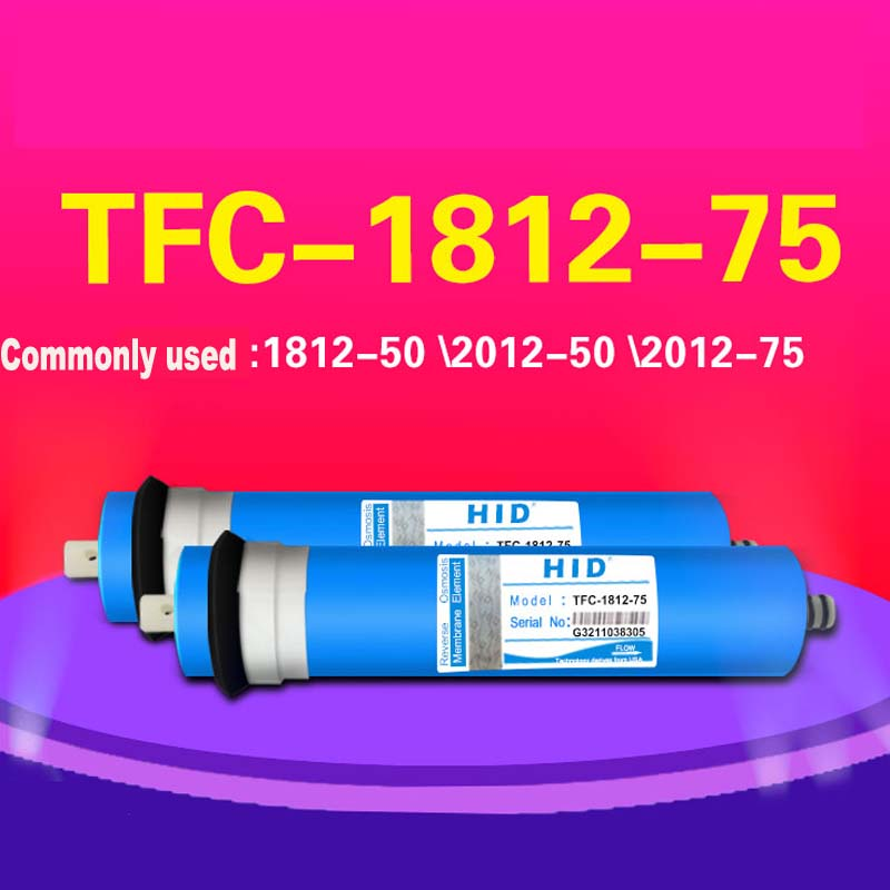 HID TFC 1812- 75 GPD RO membrane for 5 stage water filter purifier treatment reverse osmosis system NSF/ANSI Standard