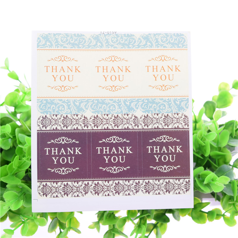 Thanks You Seal Stickers Rabbit Bear Handmade DIY Seal Sticker Scrapbooking Envelopes packaging Label Cake Wrapping Baking Party