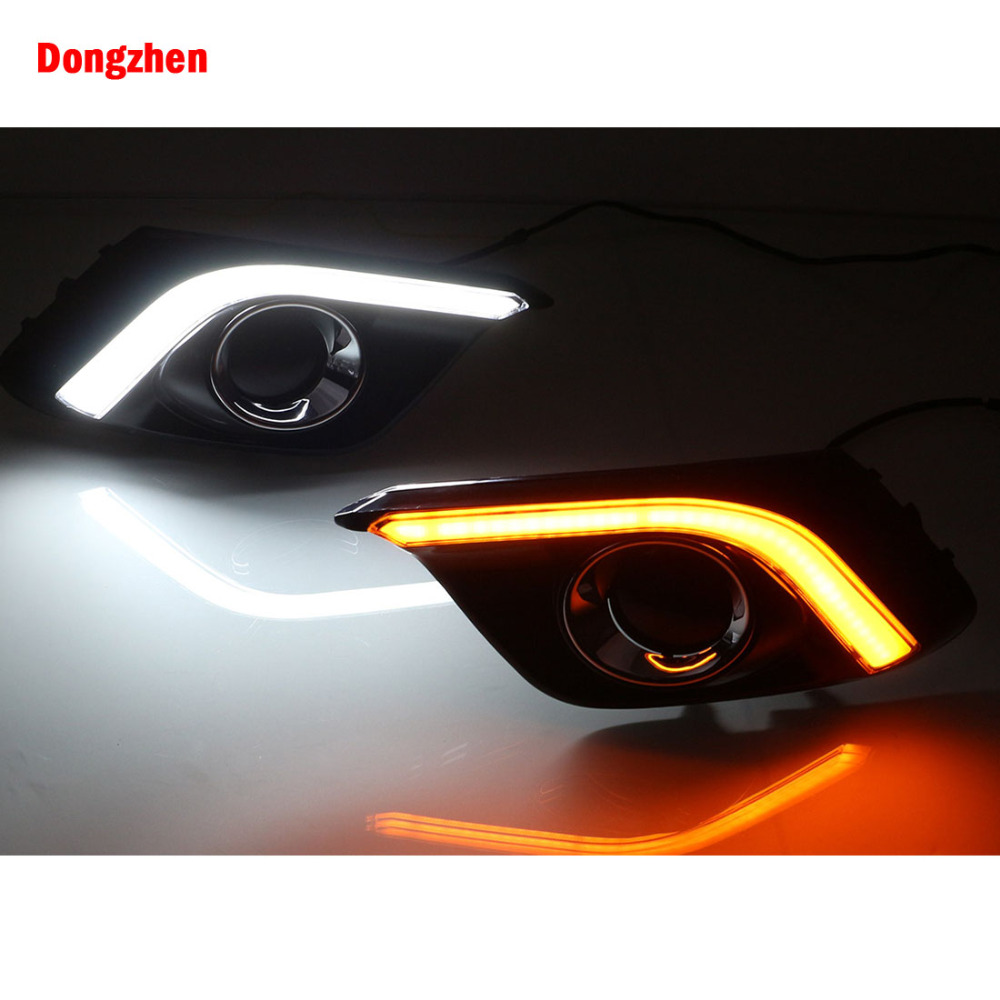Dongzhen 1Pair Car LED DRL Daytime Running Lights High Bright White DayLight Fit For Mazda 3 Axela 2013-2016 Fog Light Bulb dongzhen 1 pair daytime running light fit for volkswagen tiguan 2010 2011 2012 2013 led drl driving lamp bulb car styling