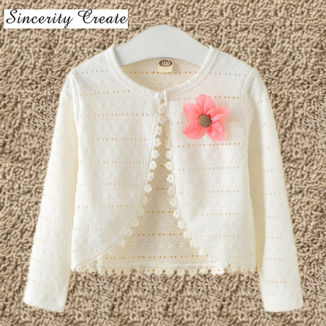 1,2,3,4,5,6,8,10Y Baby Cardigan Sweaters Cotton Polyester Thin Long ...