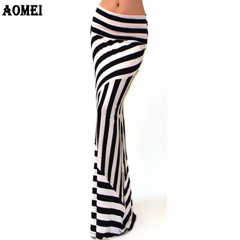 Women Maxi Skirts Zebra Striped Slim Elegant Stretched Package Hip Long Skirts Faldas Saia Ladies Jupes Eurpean Plus Size 3XL