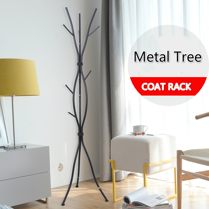 Wrought Iron Floor Coat Rack, Simple Modern Iron Clothes Rack, Home Bedroom  Living Room Bag Clothes Hanging Rack