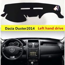 TAIJS Left hand drive car dashboard mat cover for Dacia Duster 2014-2017 Sport style Auto dashboard rug for Dacia Duster 14-17