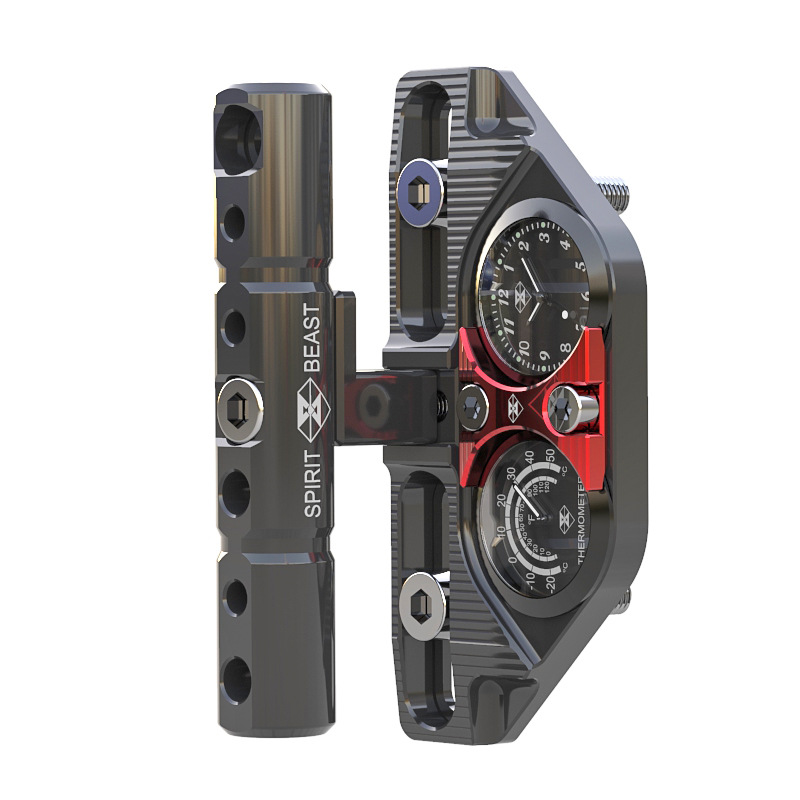 With Watch and humidity meter motorcycle scooter modified handlebar pressure code stent decorative accessories gw250 modified standard ordinary version of motorcycle modified split handlebar plus height code increase the code
