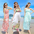 2016 new summer women's dresses print chiffon maternity dresses  pregnancy beach and hoilday dresses maternity clothing 16428