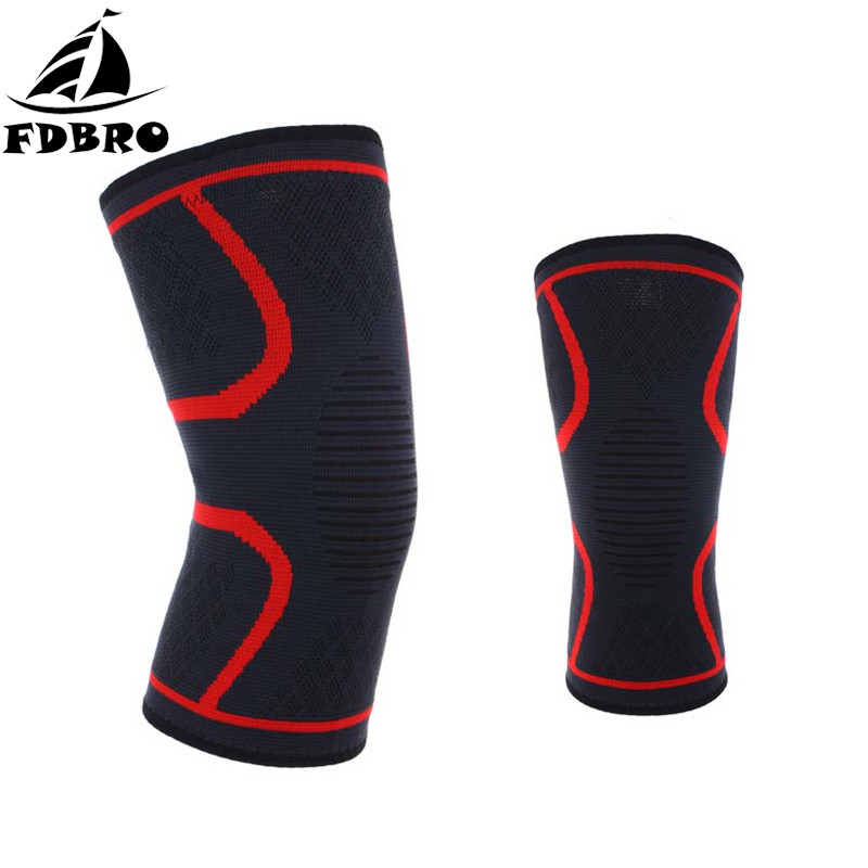 FDBRO 10 Pcs/Set Sports Knee Pads Protector Support Brace Running Cycling Gym Training Fitness Sports Safety Compression Kneelet