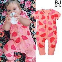 ed881837bc1 Infant Newborn Toddler Baby Boy Girl Clothes Summer Watermelon Romper  Playsuit Casual Short Sleeve Clothes Outfits