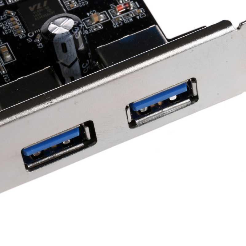 2 puertos PCI Express USB 3,0 Panel frontal con adaptador de tarjeta de Control de 4 pines y 20 pines