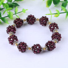 Natural garnet bracelet fashion Women semi-precious stones Crystal bracelet jewelry gift