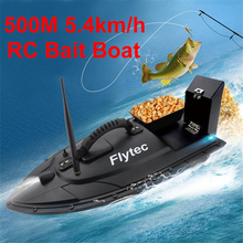 Flytec 2011 5 เครื่องมือตกปลาสมาร์ท RC เหยื่อเรือของเล่นมอเตอร์ Fish Finder รีโมทคอนโทรลตกปลาเรือ Speedboat 500 เมตร