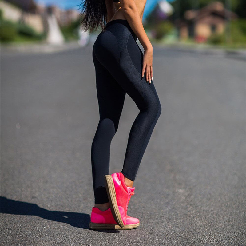 CHRLEISURE High Waits Push Up Leggings Mujeres Poliéster Negro - Ropa de mujer - foto 3