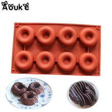 8 Hole Donuts Silicone Silicone Chocolate Cake Mold Ice Cubes Soap Cookies Mould Decorating Fondant Molds DIY Jelly Baking Toos все цены