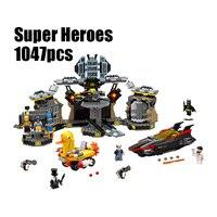 10636 Legoings Batman Movie Batcave Break in Superhero Toy Bricks Sets Building Block Bricks Toys Compatible 70909