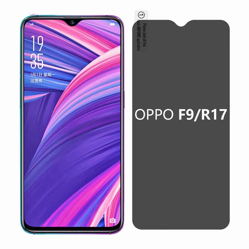 US $3 09 30% OFF|Privacy Screen Protector For OPPO F9 F5 F7 9H Anti Spy  Privacy Tempered Glass For OPPO R17 F9 Pro Exlposion Proof Privacy Film-in