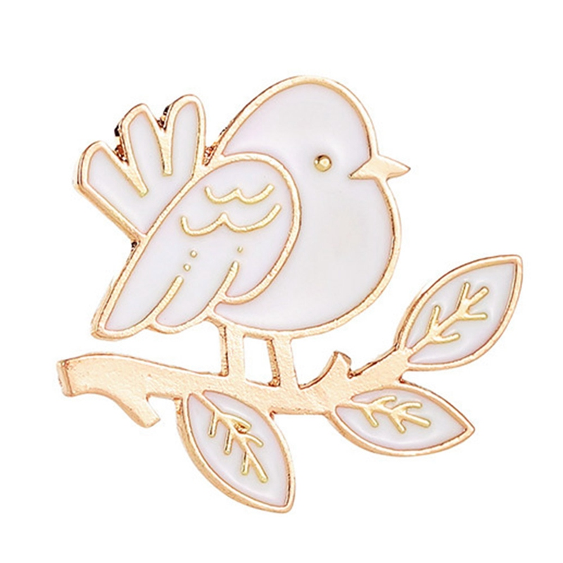Enamel  Bird Pin Cartoon Flying Fledgling Animal Brooch  Pin Buckle Shirt Badge Gift For Kids
