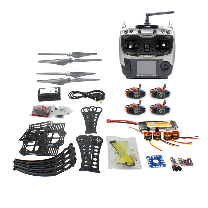 DIY RC Drone Quadrocopter RTF X4M360L Frame Kit QQ Super Radiolink AT9S f14892 f diy rc drone quadcopter rtf x4m360l frame kit with qq super flight control motor esc flysky fs i6 transmitter battery