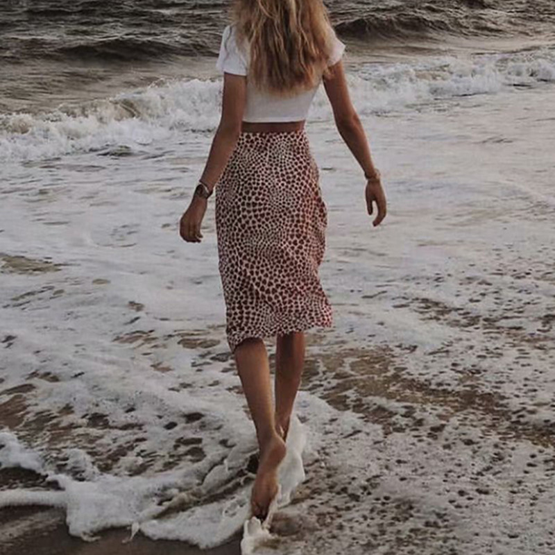Women 100% Silk Naomi Skirt Young Love Heart Print Eeasy 90's Slip High Elastic Waist Midi Skirt-in Skirts from Women's Clothing    2
