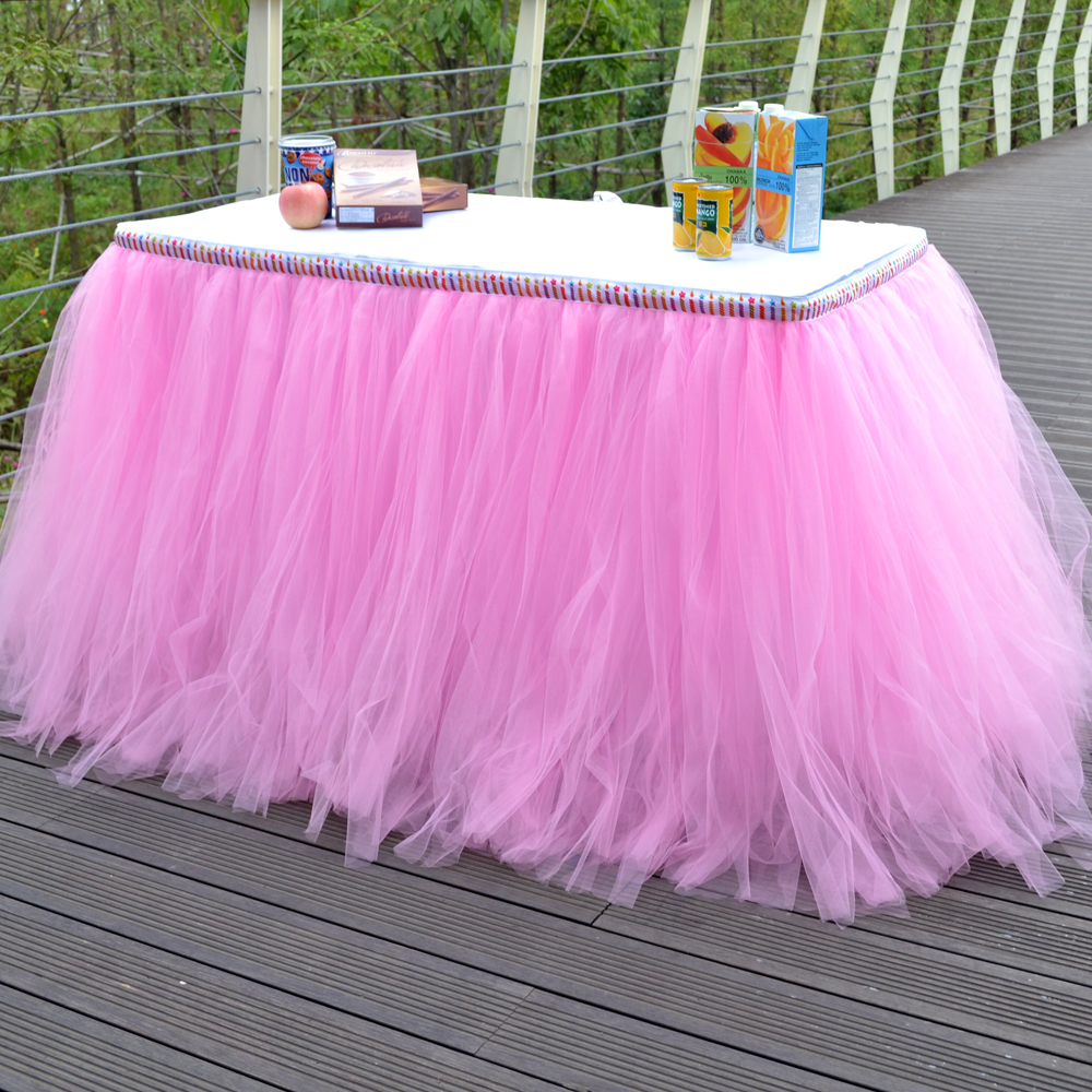 Online Get Cheap Tulle Tutu Table Skirt