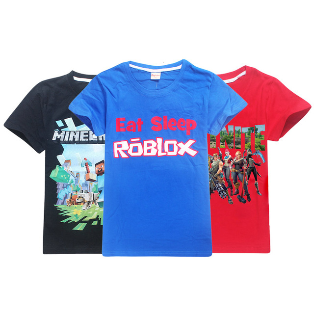 Minecraft Roblox Boys Fortn T Shirt Summer Top Tee Fnaf Clothing Kid T Shirt For Baby Boy Kids Clothes Tshirts Child Clothes In T Shirts From Mother