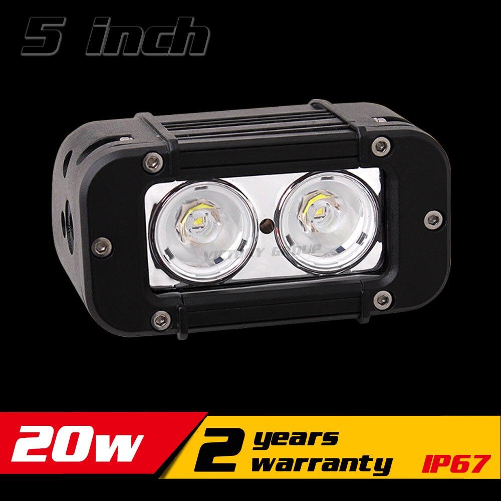 5 inch 20 W LED barre de lumière de travail pour moto ATV 12 v 24 v barre de LED Offroad 4X4 LED lumière de travail antibrouillard Seckill 18 w 27 w