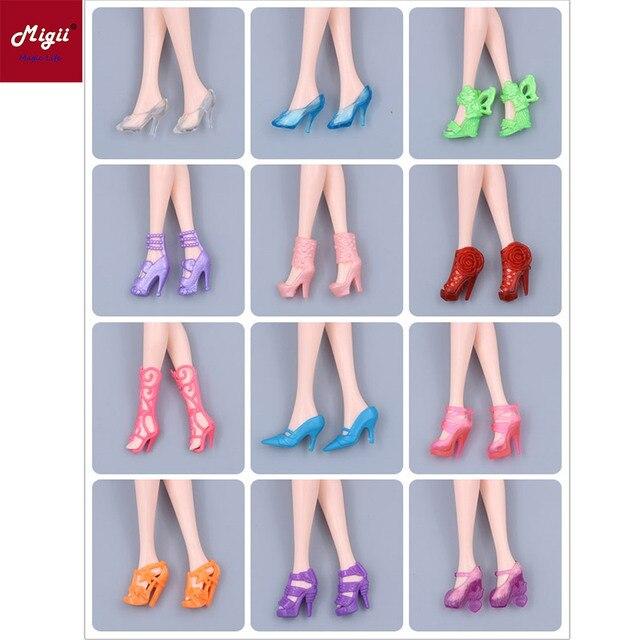 02b69820f Sandálias para 11 pares/lote 20 polegada sapatos Da Menina Da boneca BJD  acessórios amigo