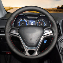 High quality Black Artificial Leather anti-slip customized car steering wheel cover For Chery Arrizo 5 цена и фото