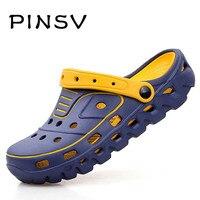 PINSV Hommes Sabots Casual Chaussures Hommes Mules & Sabots D'été Marque Pantoufles Hommes Jardin Chaussures Chaussure Homme Zapatillas Hombre