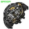 Marca sanda led digital reloj de los hombres del deporte militar relojes de alarma cronógrafo hombres de lujo relogio reloj de cuarzo reloj de pulsera de silicona