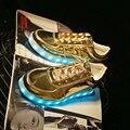 Привело обувь мужчины про теннис свет кроссовки повседневная неон мужской обуви плоские с суперзвезда обувь человек led мужская горячие моды