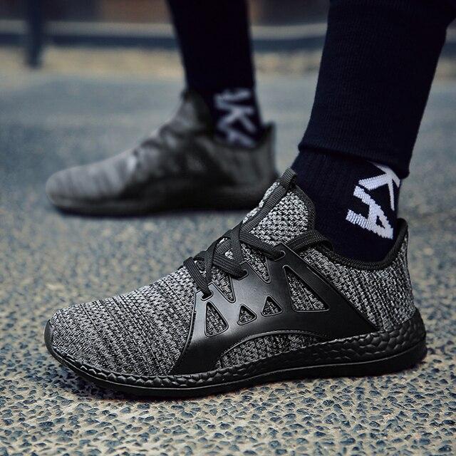 Quatro estações Tamanho Grande 36-47 Mulheres Homens malha Respirável tênis  de Corrida sapatos para cb3aea8ffe291