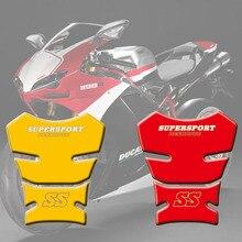 Мотоцикл стикер s топливный бак стикер Fishbone защитные Наклейки 3D Танк Pad для Ducati SS Supersport 1989-98 90 91 92 93 94