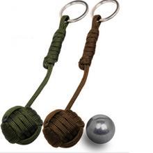 Кулак обезьяна обеспечение подшипника стальной шарик выживание ремешок брелок безопасности черный