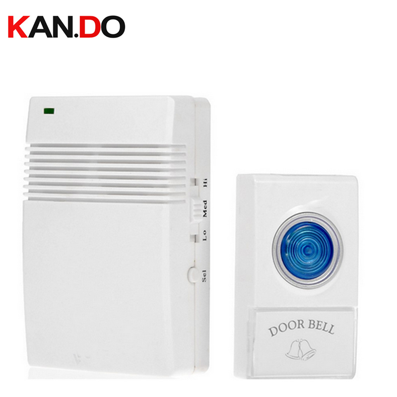 V005A Ring Doorbell With 1 Receiver W/ Battery 23A 12V Receiver Power By AA Battery Wireless Door Bell Doorbell Chime Door Ring