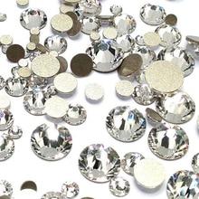 Mix Size A2058 5A NonHotfix Crystal Glass Polish Stone Strass Nail Rhinestone Flatback Beauty Art Naill Diamonds