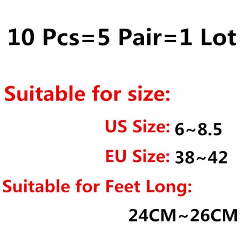 Tất Nam Dép Sợi Tre Lớp Silicone chống trượt Vô Hình Thuyền Tất Vớ Nam/Nữ Vớ mắt cá chân 10 = 5 cặp/lô