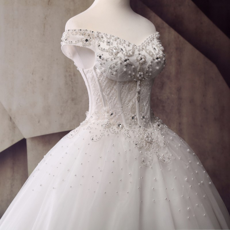 See Through Corset Style Princess Wedding Dresses 2017 Vestido de ...