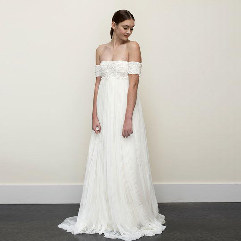 Buy tidetell white off the shoulder for Wedding dresses to buy off the rack