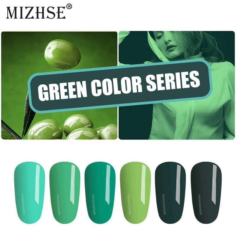 MIZHSE 2019 más nuevo esmalte de Gel de uñas remojo de Gel barniz laca uñas arte francés manicura verde Series Kit Gel Paiting lámpara UV
