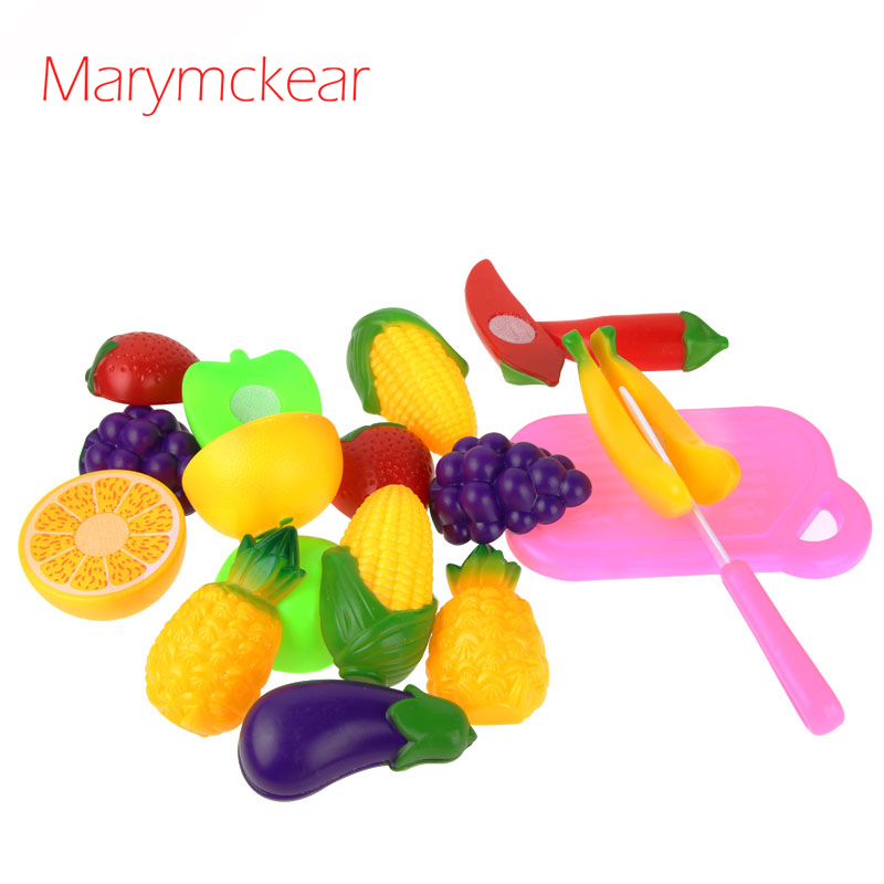 Hot Sale Toys for Children Fruit Vegetable/Cutting Colorful Kitchen Food Toys 11pcs/set Girls Toys Play House Plaything