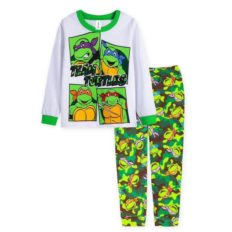 2018 Childrens Clothing Sets Summer Baby Boy Pajamas cute cartoon Kids Sleepwear Set Long Sleeve+trousers