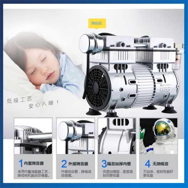 550D 220V Negative Pressure Vacuum Pump 51.7L/min Air Vacuum Pump shanghai jiebao piston oilless vacuum machine large flow and high vacuum oil free vacuum pump ac220v 1500w 90kpa 275l min