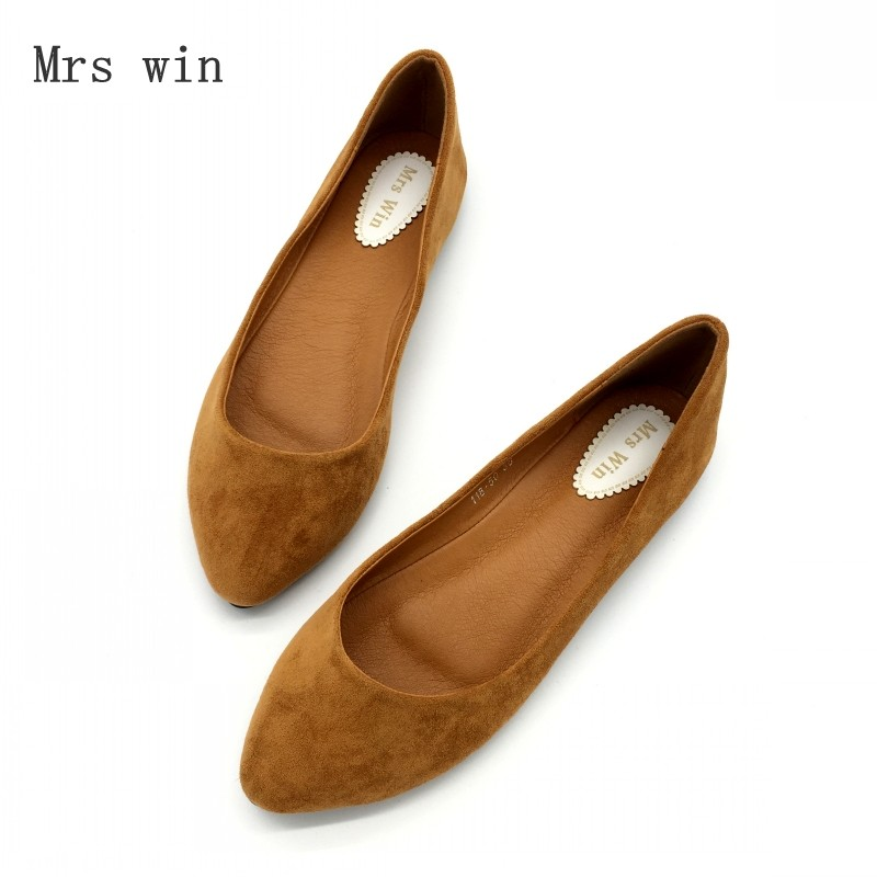 2018 New Spring Autumn Women Ballet Flats Shoes Slip-On Woman Single Shoes Ladies Females Footwear Zapatos Mujer Plus Size Black 2017 summer spring women ballet flats round toe slip on shoes woman flower bowknot loafers vintage zapatos mujer canvas