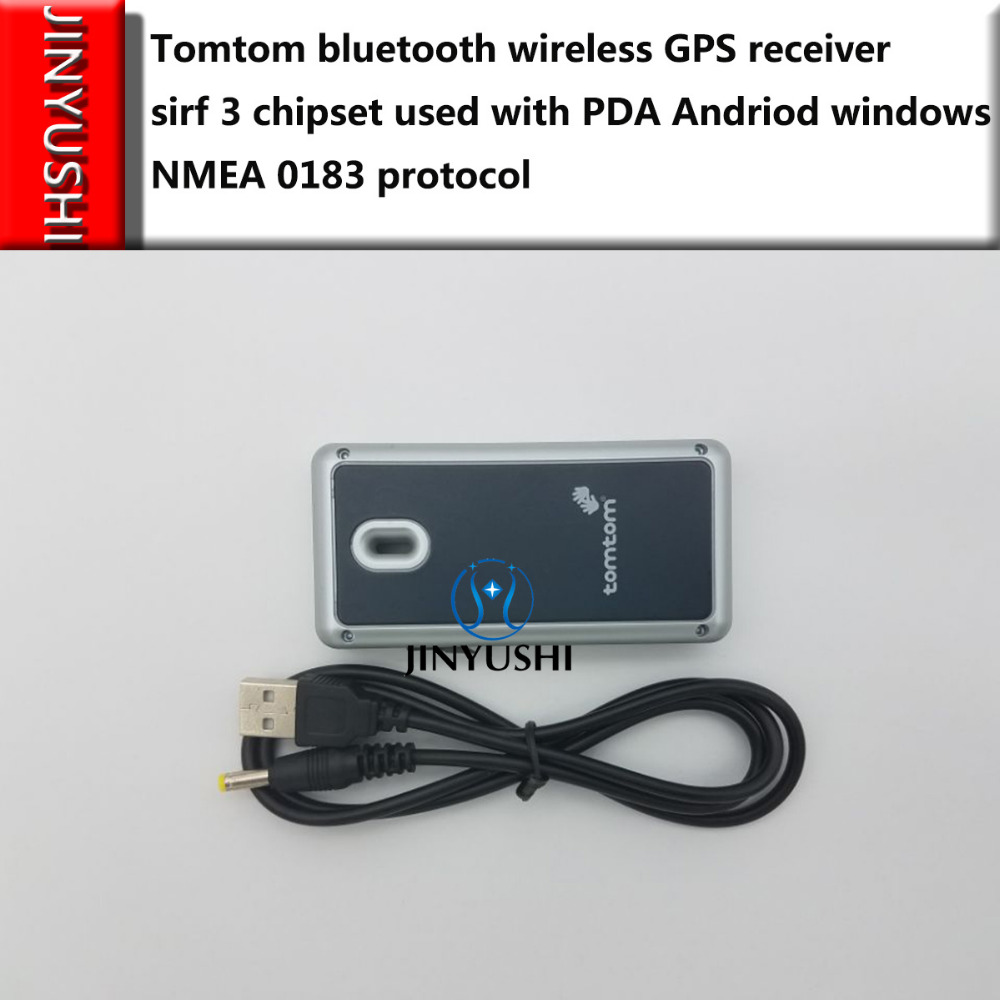 JINYUSHI for Tomtom bluetooth wireless GPS receiver sirf 3 chipset used with PDA Andriod windows NMEA 0183 protocol in stock(China)