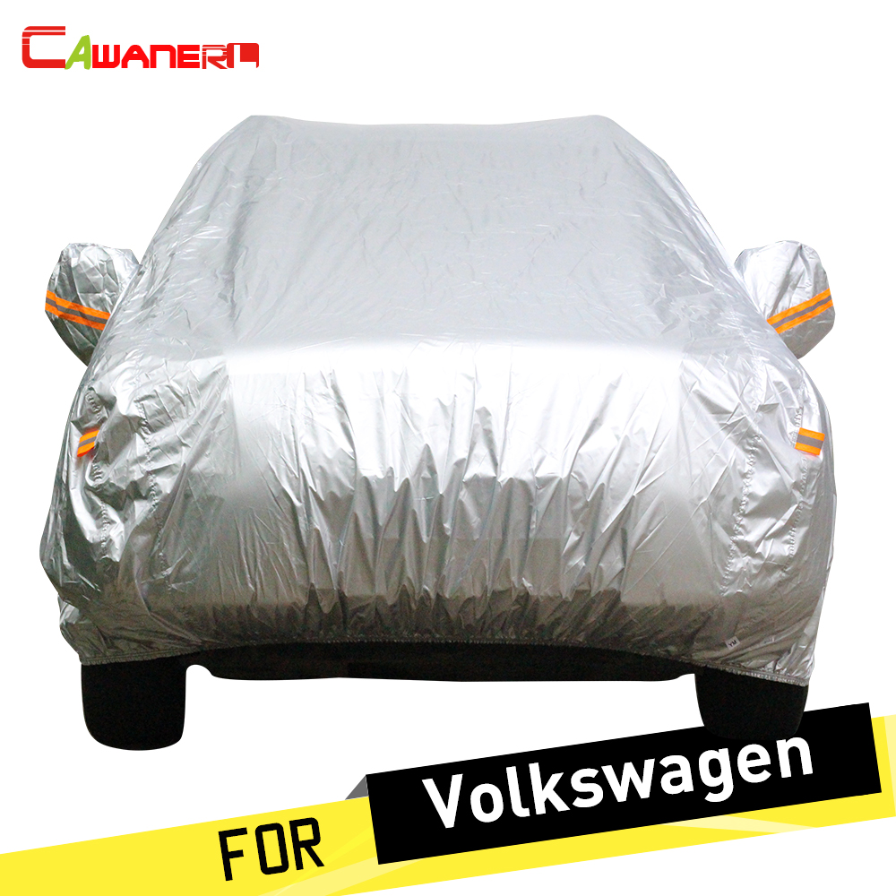 Cawanerl Car Cover Sun Anti UV Snow Rain Protection Cover For VW Volkswagen Santana Tiguan Polo