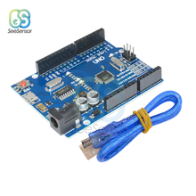 UNO R3 CH340G CH340 Development Board MEGA328P ATMEGA328 ATMEGA328P-16AU Module For Arduino Micro USB DIY Electronic black due r3 board due ch340 atsam3x8e arm main control board with ch340g for arduino