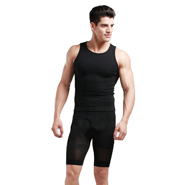 Men Slimming Thigh Body Shaper High Waist Control Panties Hold Belly Butt Lifter Tummy Trimmer Shapers Panties 2