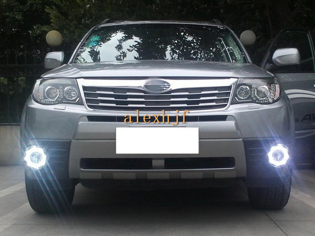 July King Led Daytime Running Lights Fog Lamp White Drl Blue Case For Subaru Forester 2009 13 Free Shipping