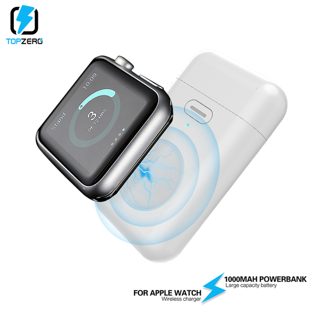 1000mAh Wireless Charger Mini Power Bank For i watch 1 2 3 4 5 Magnetic Portable Powerbank Thin External Battery For Apple Watch 1