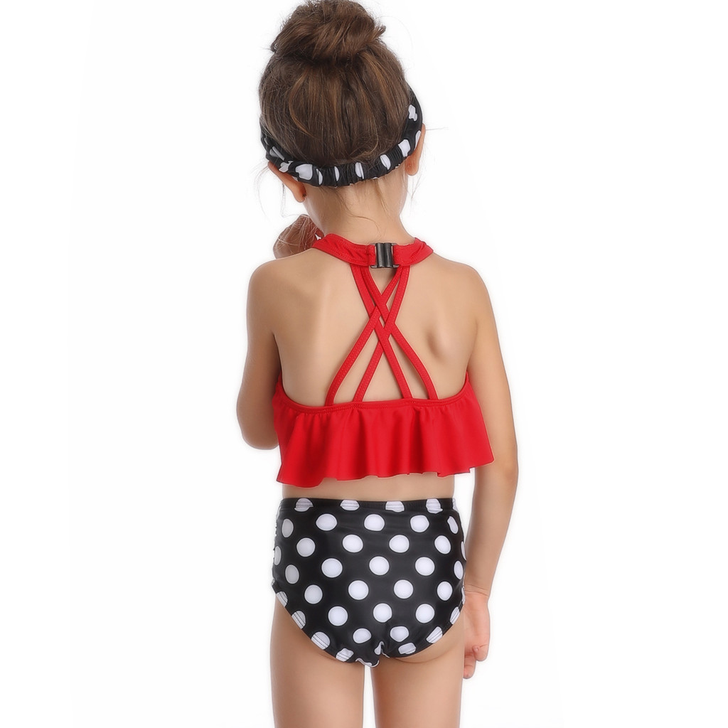 Apparel - Mother And Daughter Swimsuit  2019 Polka Dot
